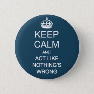 Keep Calm 1 6 Cm Round Badge