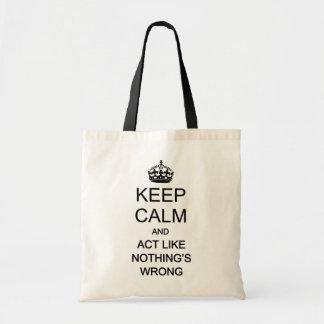 Keep Calm 1 Canvas Bags