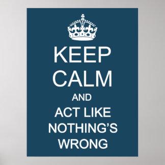 Keep Calm 1 Poster