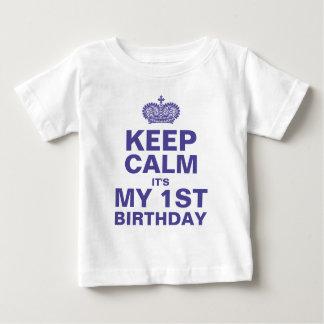 KEEP CALM 1ST BIRTHDAY BABY BOY BABY T-Shirt
