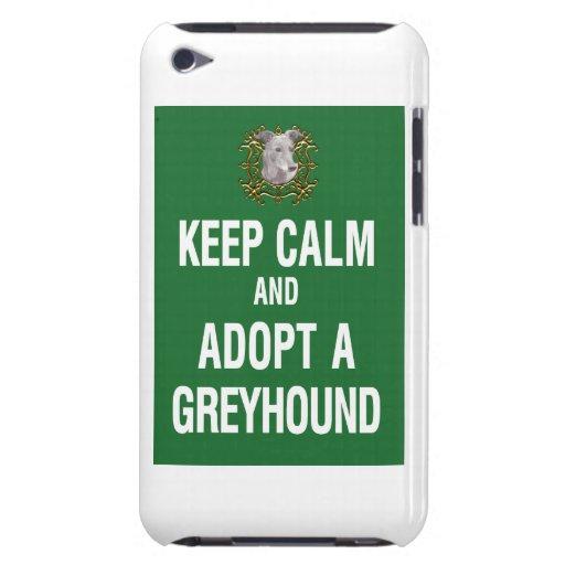 Keep Calm & Adopt a Greyhound iPod Touch Case