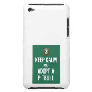 Keep Calm Adopt a Pitbull iPod Case-Mate Cases