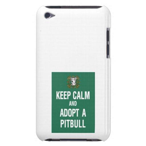 Keep Calm & Adopt a Pitbull iPod Case-Mate Cases