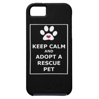 Keep Calm & Adopt a Rescue Pet - WHT iPhone 5 Cases