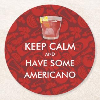 Keep Calm - Americano Round Paper Coaster
