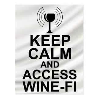Keep Calm and Access Wine-Fi Postcard