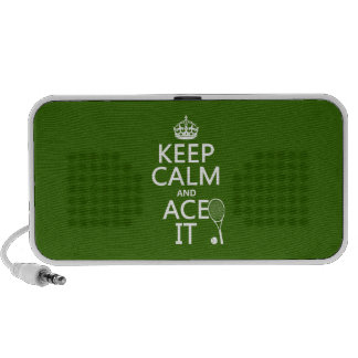 Keep Calm and Ace It (tennis) (in any color) Laptop Speakers
