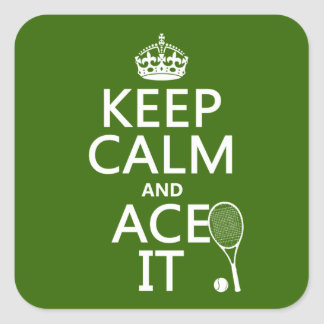 Keep Calm and Ace It (tennis) (in any color) Stickers