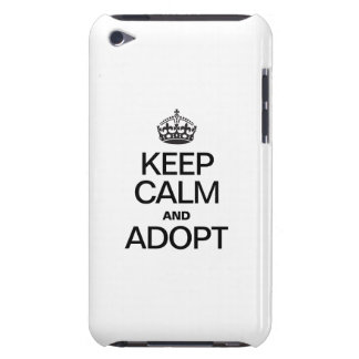 KEEP CALM AND ADOPT Case-Mate iPod TOUCH CASE