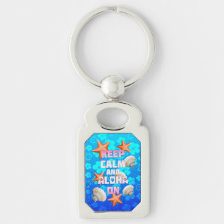 Keep Calm And Aloha On Key Ring