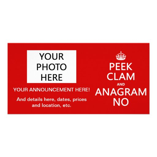 Keep Calm and Anagram On (in any color) Photo Card