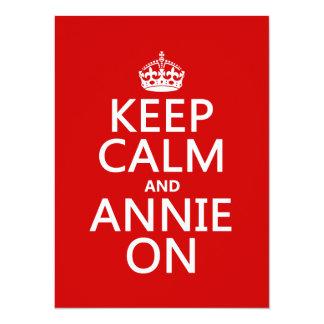 Keep Calm and Annie On - Custom Color 14 Cm X 19 Cm Invitation Card