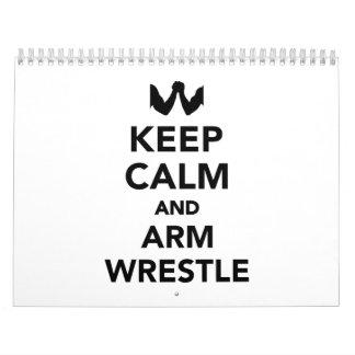 Keep calm and arm wrestle wall calendar