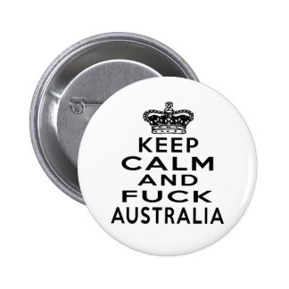 KEEP CALM AND AUSTRALIA 6 CM ROUND BADGE