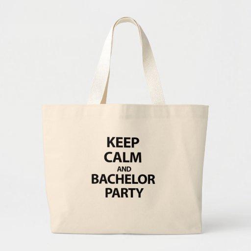 Keep Calm and Bachelor Party! Tote Bag