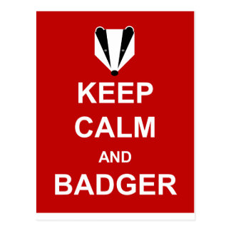 KEEP CALM AND BADGER POSTCARDS