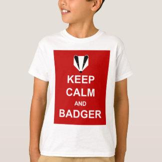 KEEP CALM AND BADGER T-Shirt