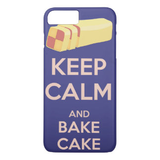 Keep Calm and Bake Cake Vintage Poster iPhone 7 Plus Case