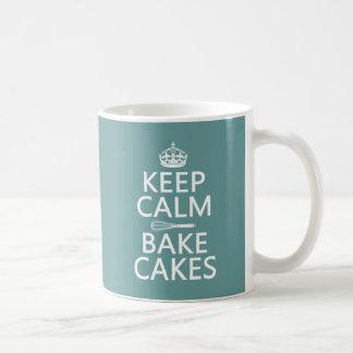 Keep Calm and Bake Cakes (customize color) Coffee Mug