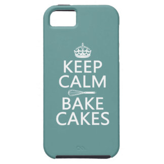 Keep Calm and Bake Cakes (customize color) Tough iPhone 5 Case
