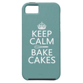 Keep Calm and Bake Cakes Tough iPhone 5 Case