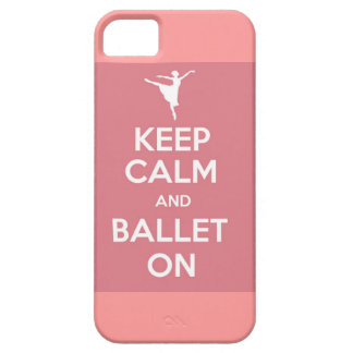 Keep calm and ballet on iPhone case