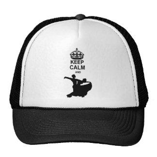 Keep Calm and Ballroom Dance Mesh Hat