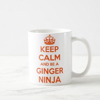 Keep Calm and Be A Ginger Ninja Mug