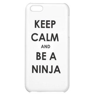 Keep Calm and Be A Ninja iPhone 5C Covers