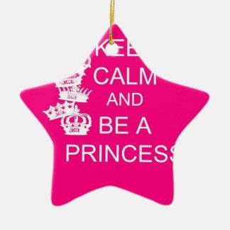 Keep Calm and Be A Princess Ceramic Ornament