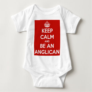 Keep Calm and be an Anglican Baby Bodysuit