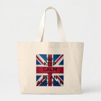 Keep Calm and be an Anglican Large Tote Bag