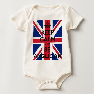 Keep Calm and be Anglican Baby Bodysuit