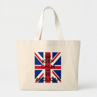 Keep Calm and be Anglican Large Tote Bag
