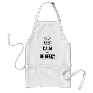Keep Calm And Be Geeky Standard Apron