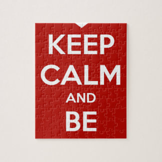 Keep Calm and Be My Valentine Jigsaw Puzzle