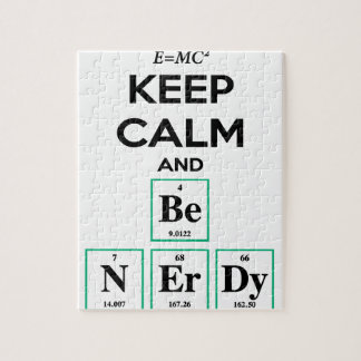 Keep Calm and Be Nerdy gifts Jigsaw Puzzle