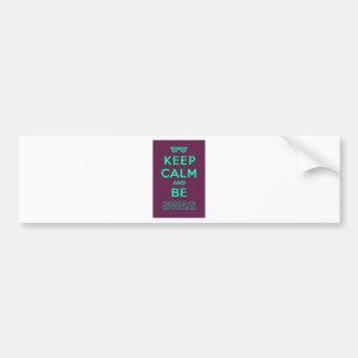 Keep Calm and Be Swag Sunglasses slogan Bumper Sticker