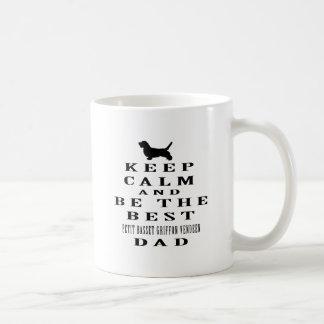 Keep calm and be the best Petit Basset Griffon Coffee Mugs