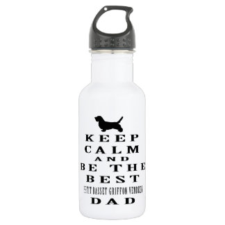 Keep calm and be the best Petit Basset Griffon 532 Ml Water Bottle