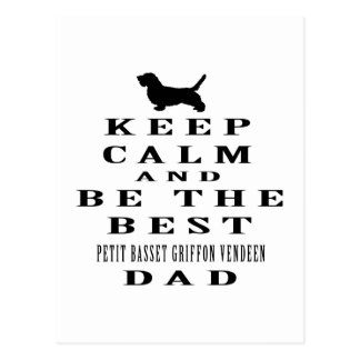 Keep calm and be the best Petit Basset Griffon Postcard