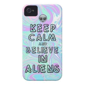 Keep Calm And Believe In Aliens Pnone Case Case-Mate iPhone 4 Case