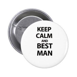 Keep Calm and Best Man 6 Cm Round Badge