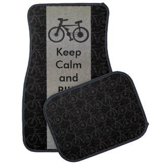 Keep Calm and Bike On Floor Mat