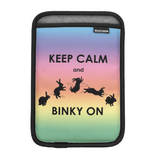 Keep Calm and Binky On iPad Mini Sleeve (Rainbow)