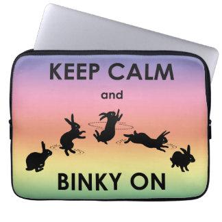 Keep Calm and Binky On Laptop Sleeve (Rainbow)