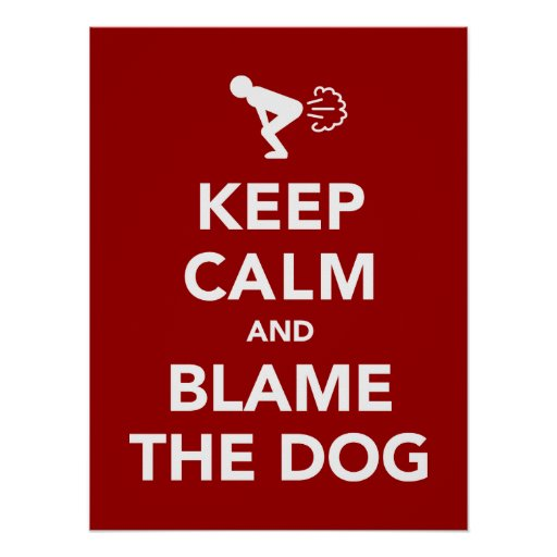 Keep Calm and Blame The Dog Poster