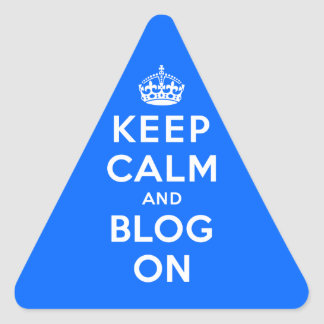 Keep Calm and Blog On Stickers