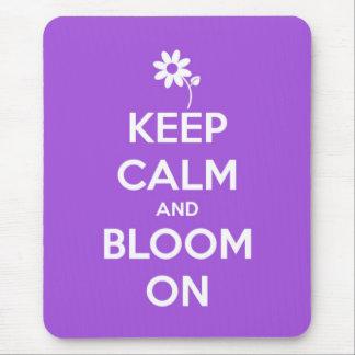 Keep Calm and Bloom On Purple Mousepad