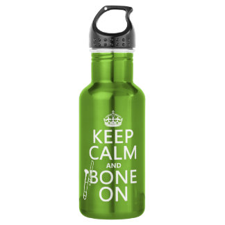 Keep Calm and 'Bone On (trombone - any color) 532 Ml Water Bottle